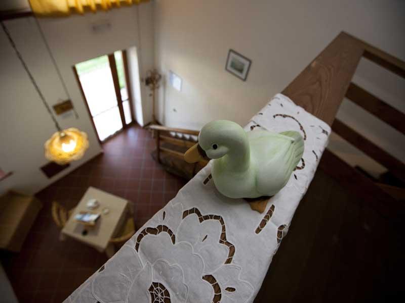 vista dal alto decorazione camere