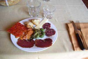 tipico piatto del ristorante