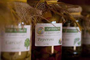 pepperoni in vetro della nostra fattoria